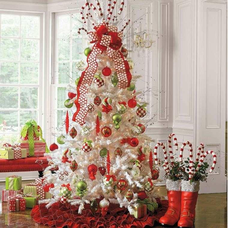 decoracion navidad estilo americano arbol blanco ideas