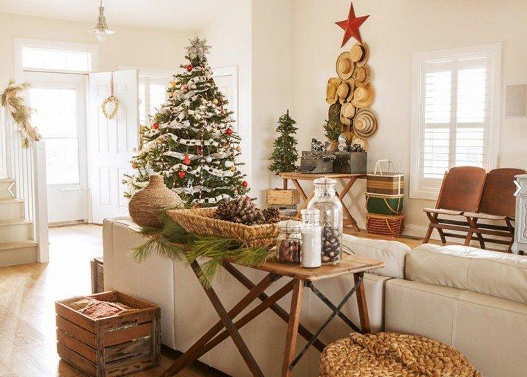 decoracion navidad estilo americano arbol pinos avellanas ideas