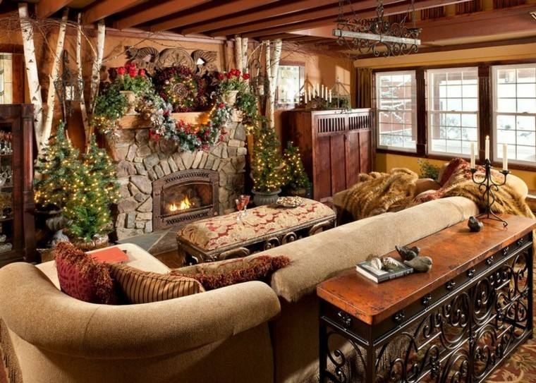 decoracion navidad estilo americano arboles guirnaldas ideas