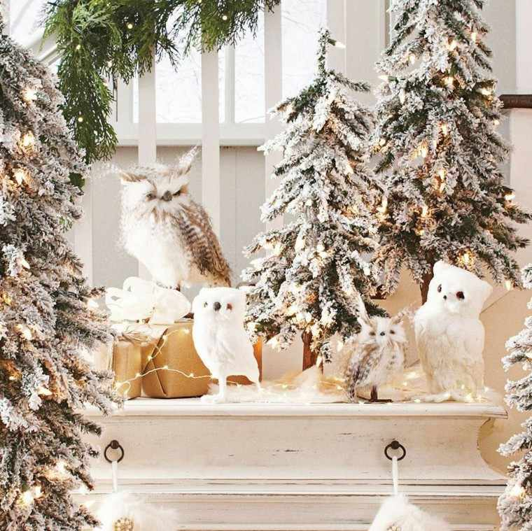 decoracion navidad estilo americano bihos blancos ideas