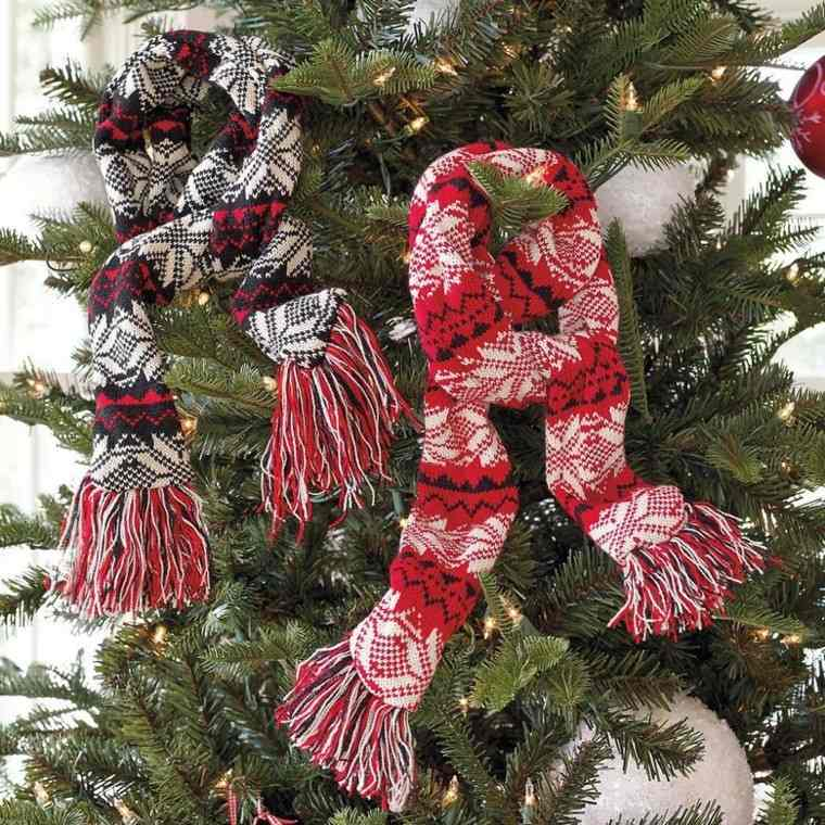 decoracion navidad estilo americano bufanda arbol ideas