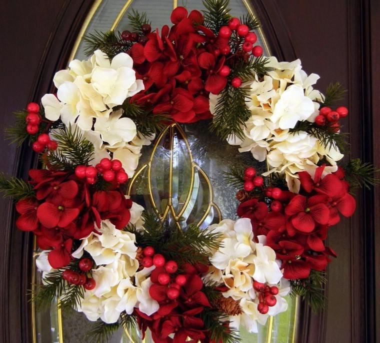decoracion navidad estilo americano flores guirnalda ideas
