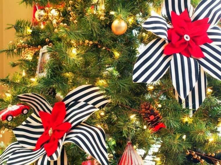 decoracion navidad estilo americano flores tela arbol ideas