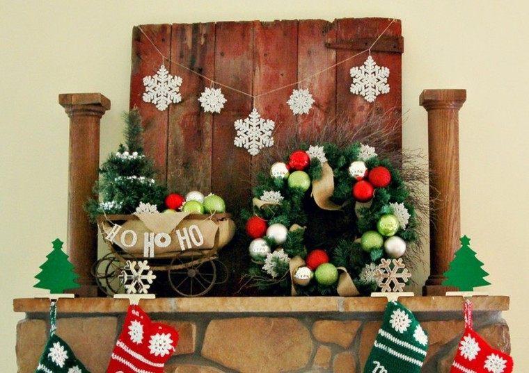 decoracion navidad estilo americano guirnalda bolas ideas