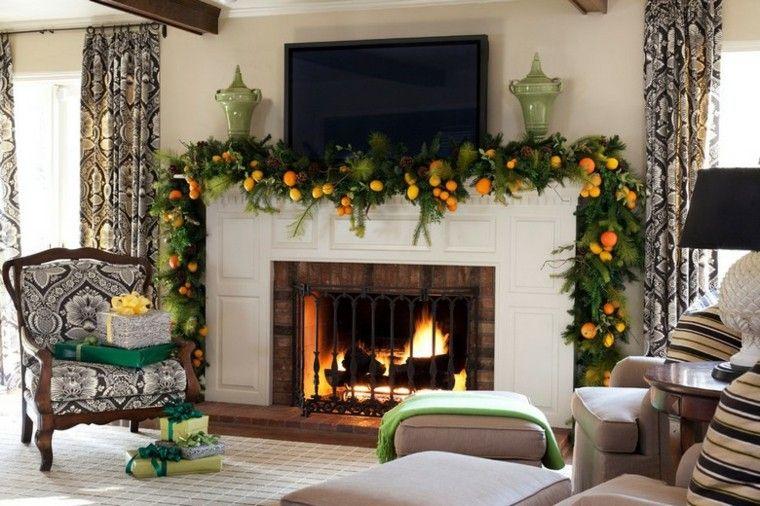 decoracion navidad estilo americano guirnalda limones naranja ideas