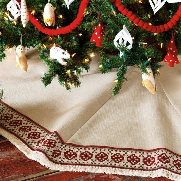 decoracion navidad estilo americano mantel suelo arbol navidad ideas