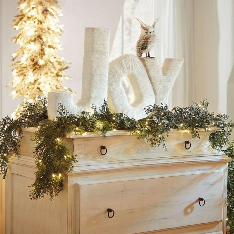 decoracion navidad estilo americano ramas pino ideas