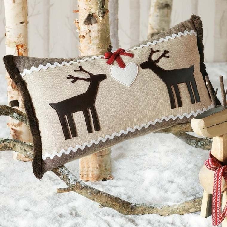 decoracion navidad estilo americano renos almohada ideas