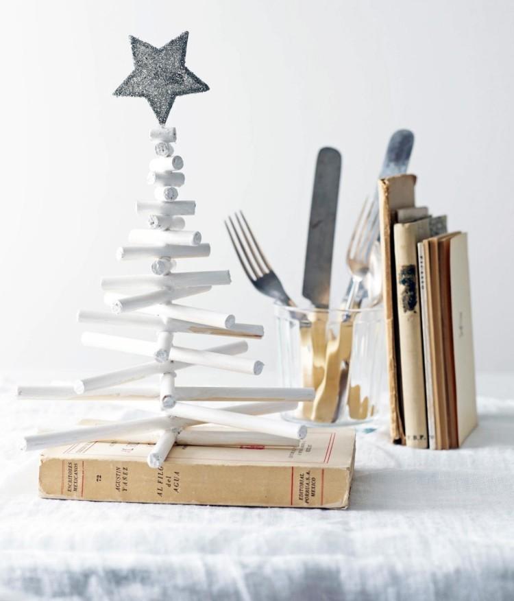 decoracion navidena escandinava arbol madera blanco ideas