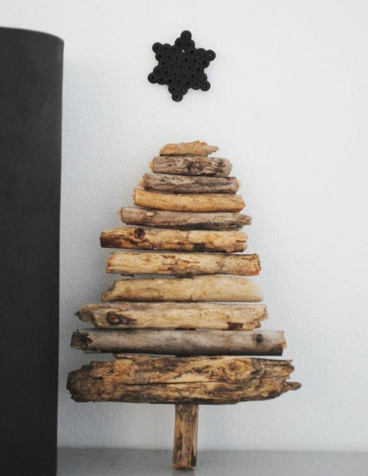 decoracion navideña escandinava interesante ramas secas ideas