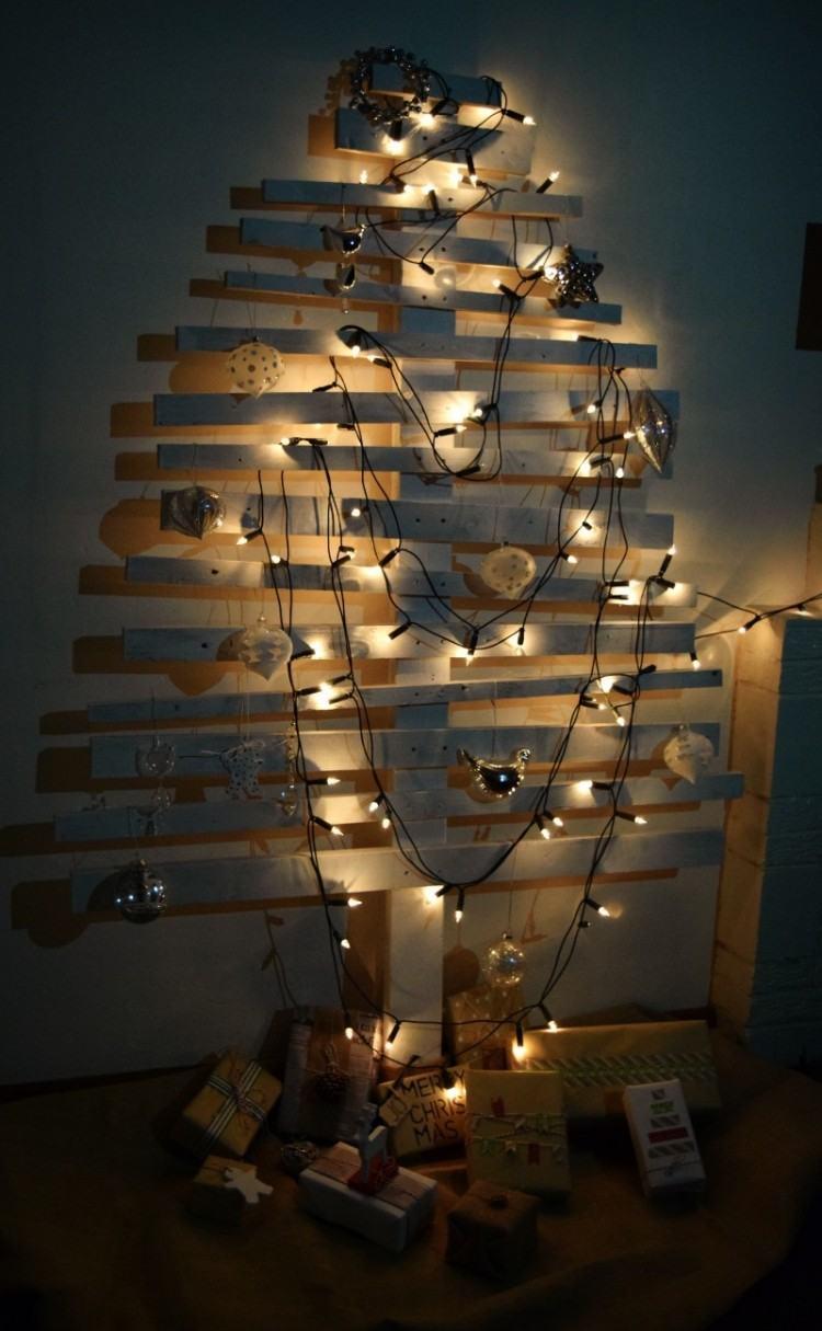decoracion navideña escandinava laminas madera blanco ideas