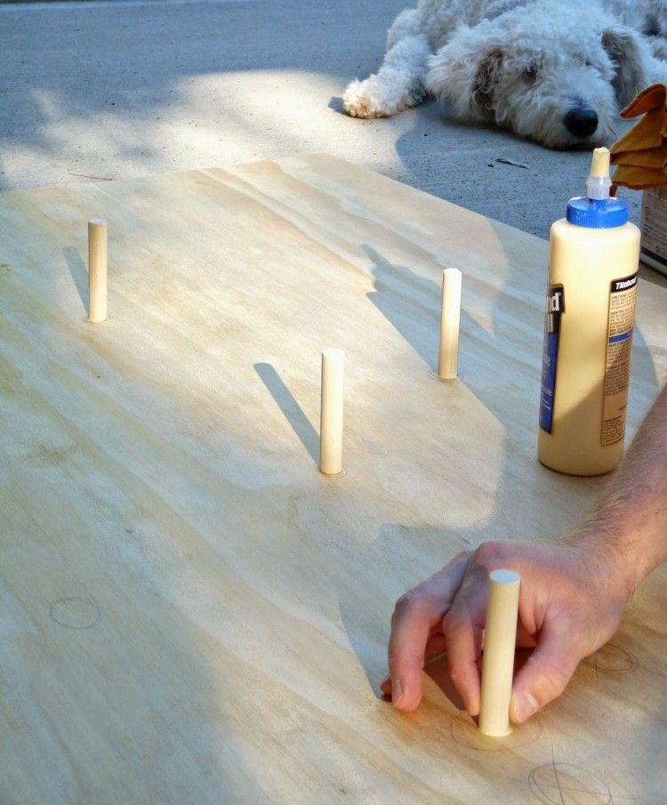 decoracion navideña escandinava madera forma cono pegada ideas