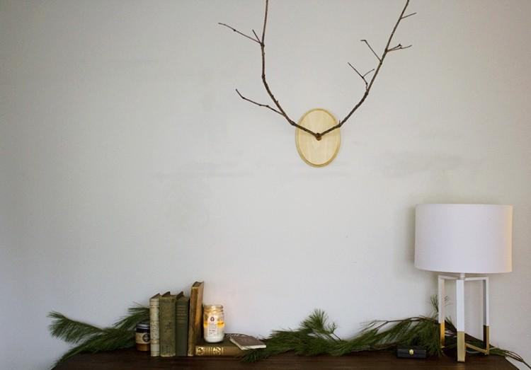 decoracion navidena escandinava rama arbol pino fresco ideas