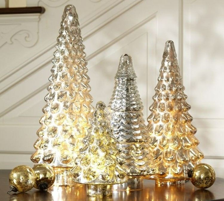 decoracion navidena luces arboles navidad metalicos brillantes ideas