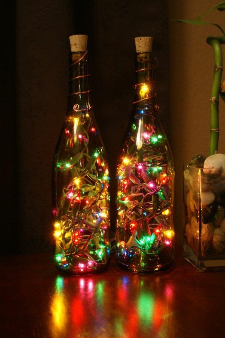 Cepillo de botella guirnalda vintage de Navidad