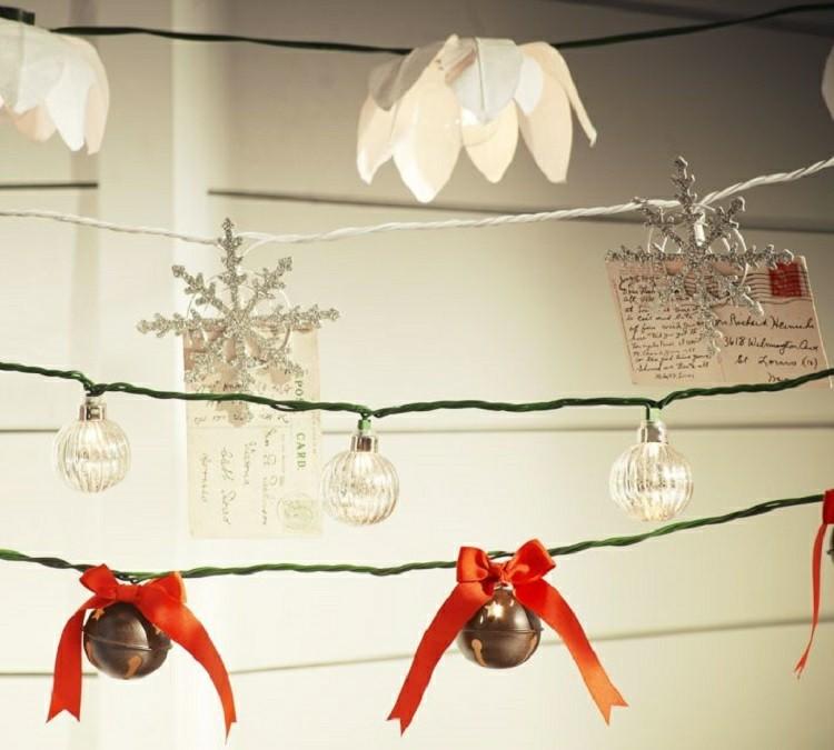 decoracion navidena luces lazos campanillas modernas ideas