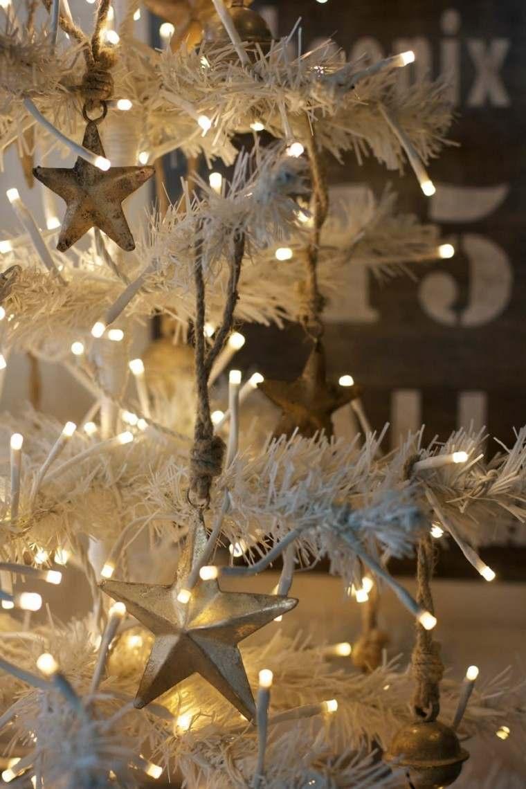 decoracion navidena vintage estrella luces cuerda ideas