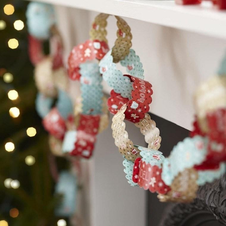 decoracion navideña vintage guirnalda papel ideas