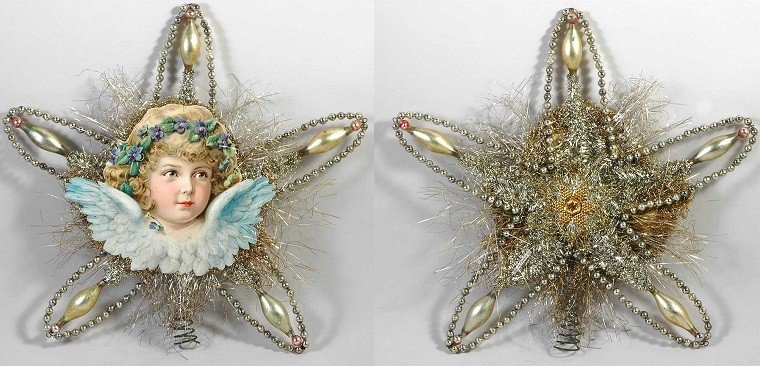 decoracion-navideña vintage ornamentos estrella ideas