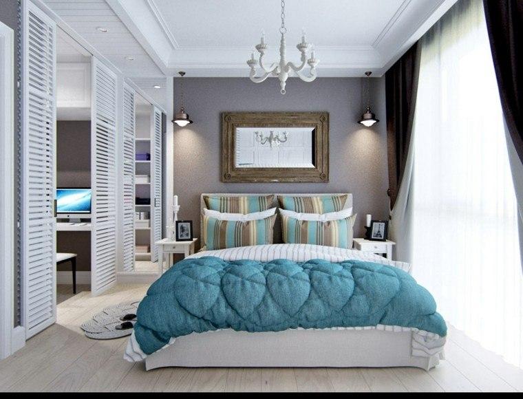 Decoracion rustica 50 ideas para interiores impresionantes for Alfombra azul turquesa del dormitorio