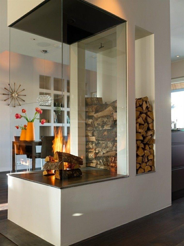 decorado moderno comedor ambiente fuego