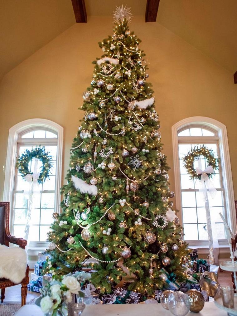 decorar habitacion navidad arbol grande guirnaldas ventanas ideas