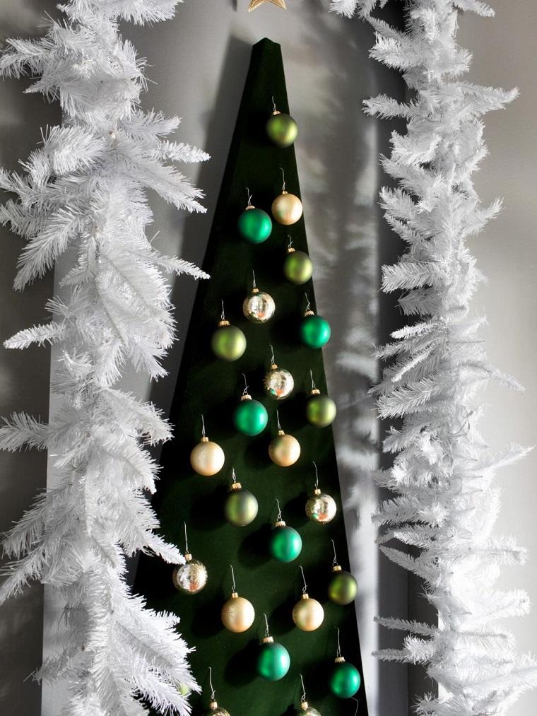 decorar habitacion navidad arbol interesante pared ideas