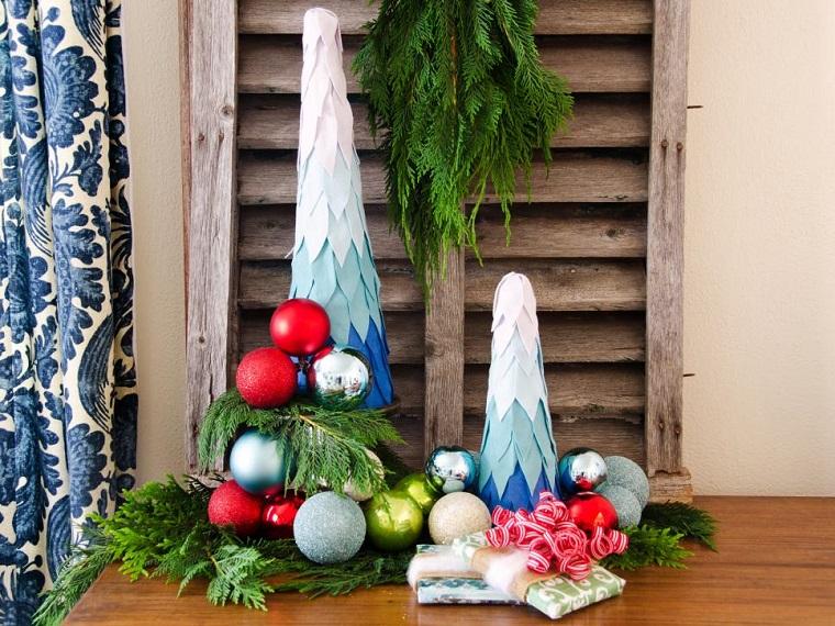 decorar habitacion navidad arboles navidad tela ideas