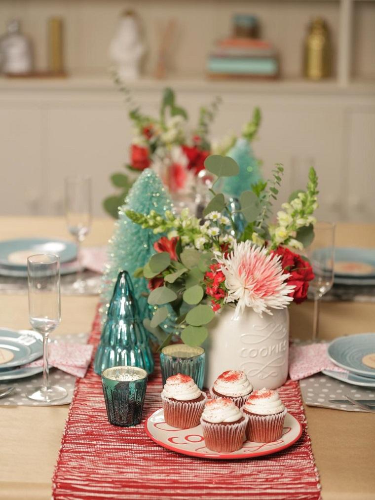 decorar habitacion navidad centro mesa arbol cristal ideas