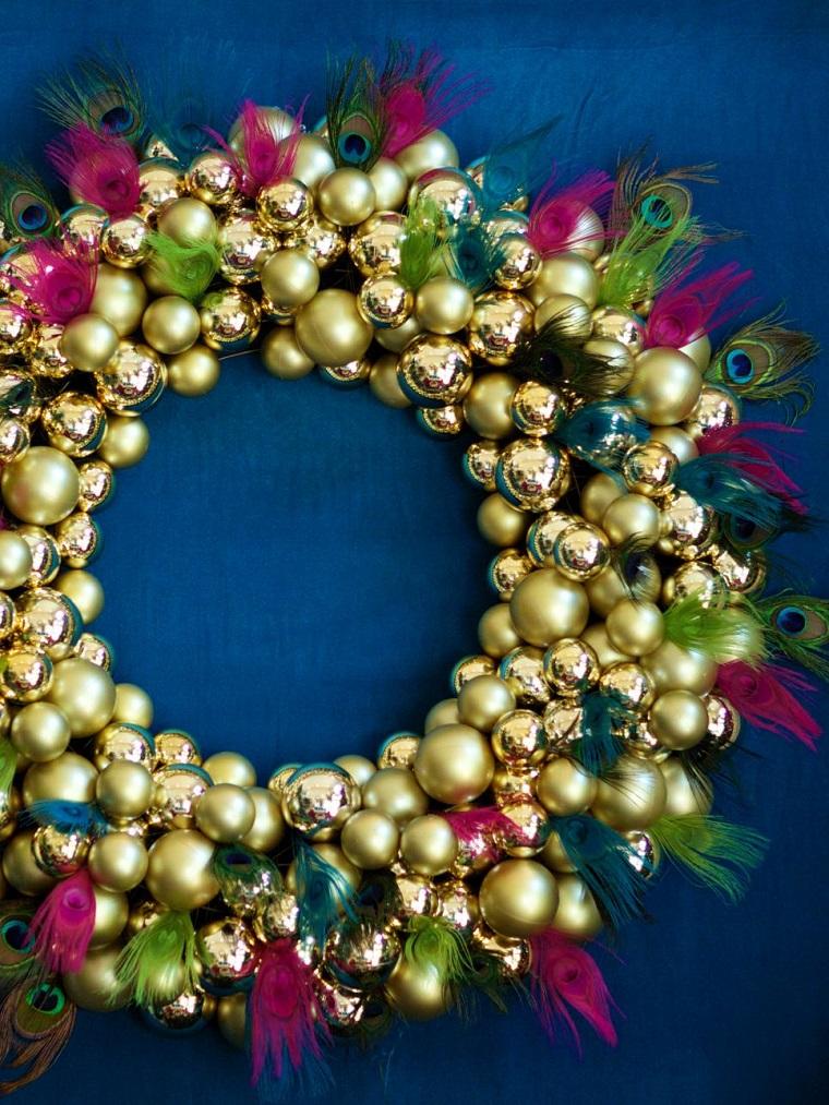 decorar habitacion navidad guirnalda-preciosa bolas navidad ideas