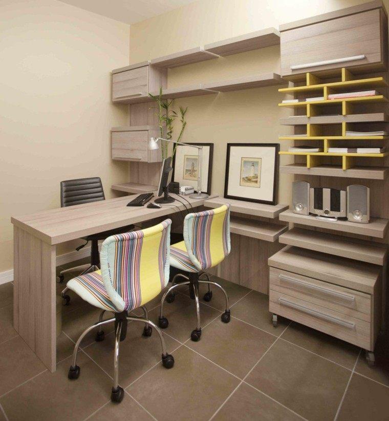 despacho estilo moderno sillas colores