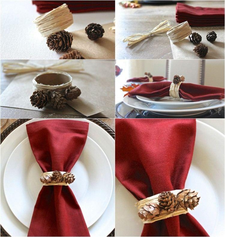 detalles rojo platos conos elegante
