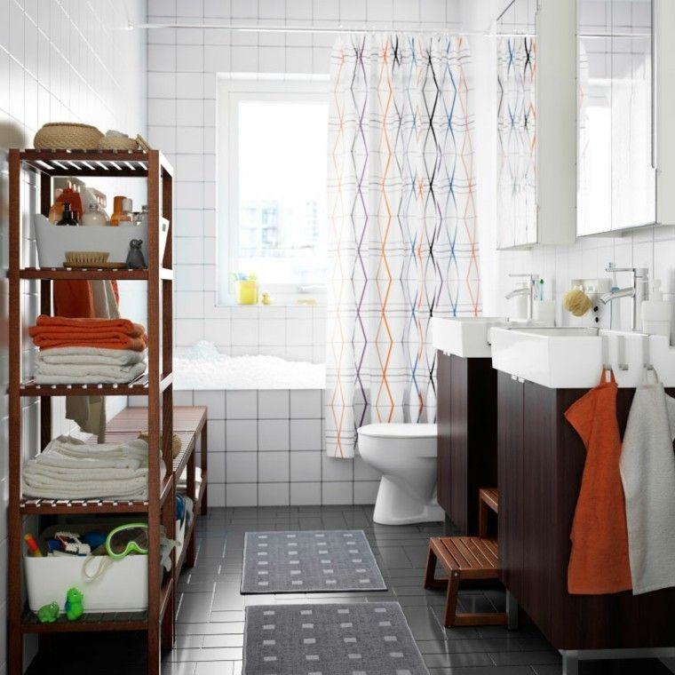 diseño baño elementos naranja