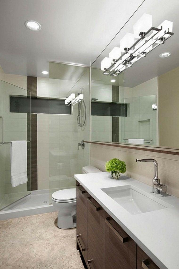 Ba os modernos con ducha cincuenta ideas estupendas - Cuartos de bano modernos ...