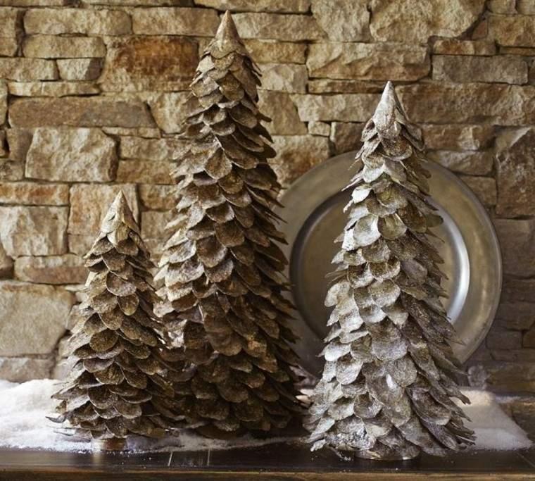 diseño adornos navideños creativo arboles paisaje