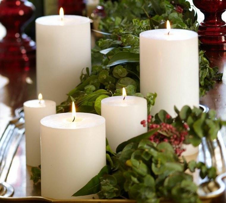 diseño adornos navideños creativo natural velas