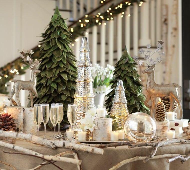 diseño adornos navideños creativo renos verde