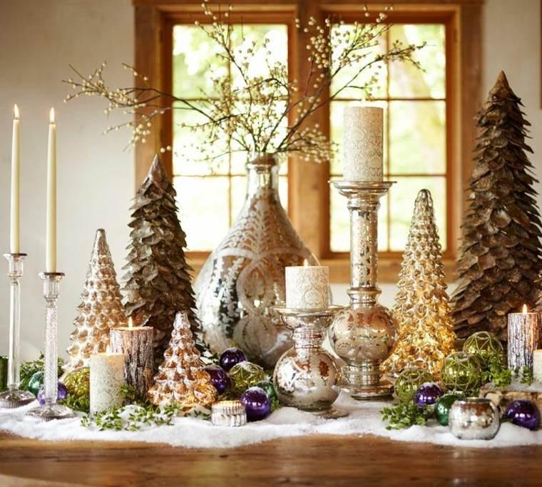 diseño adornos navideños creativo velas colorido