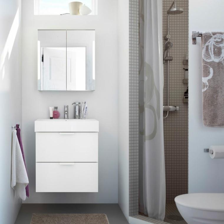 diseño cuarto baño mosaico marron