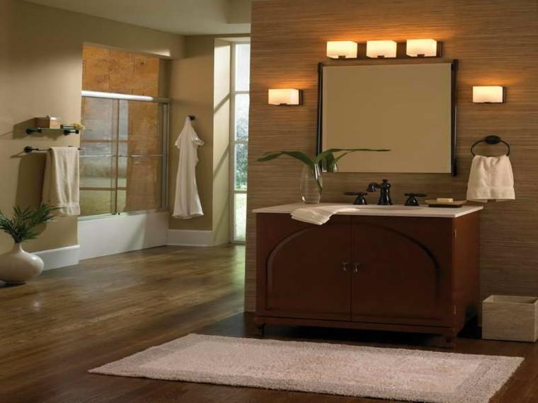 diseño baño moderno revestimiento madera