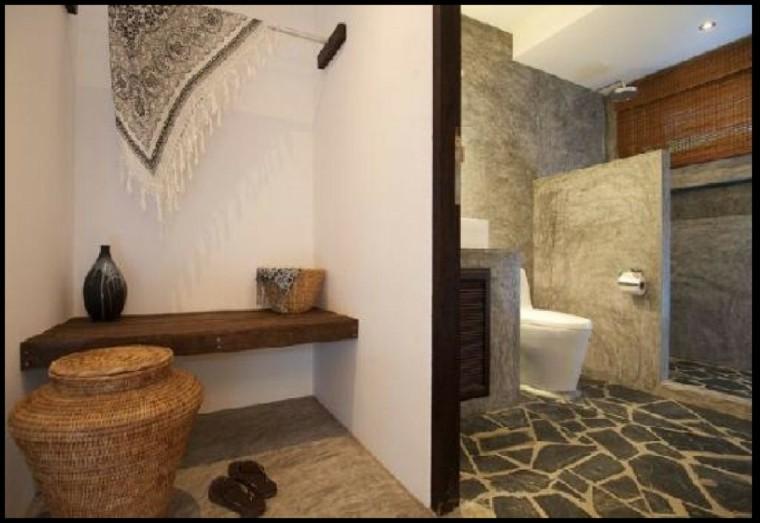 Cuartos de ba o rusticos 50 ideas con madera y piedra for Banos de piedra natural