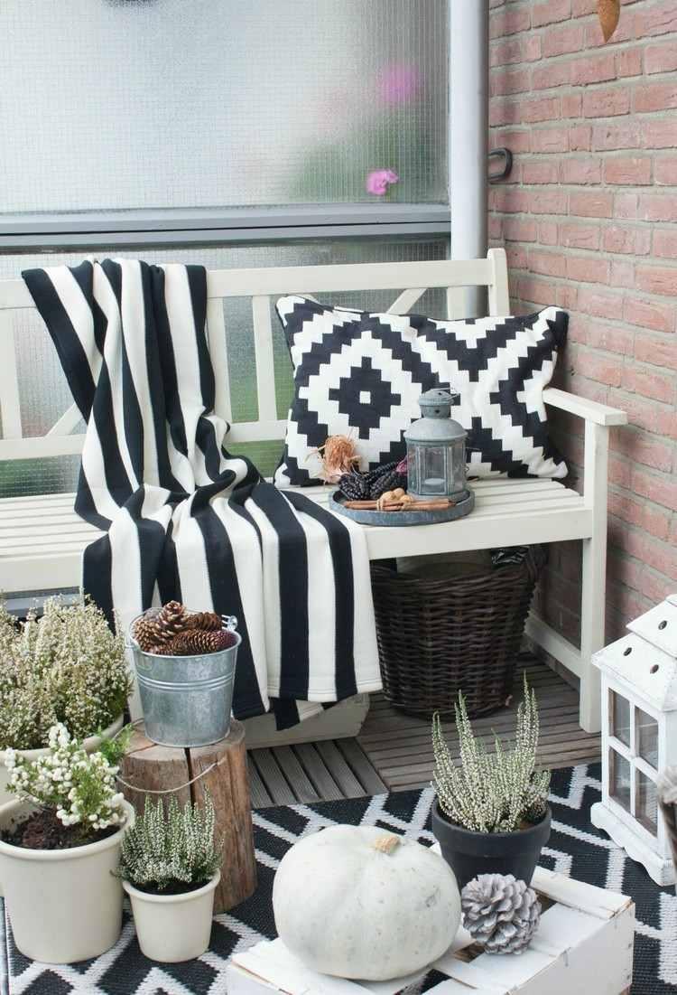 diseño balcon blanco negro