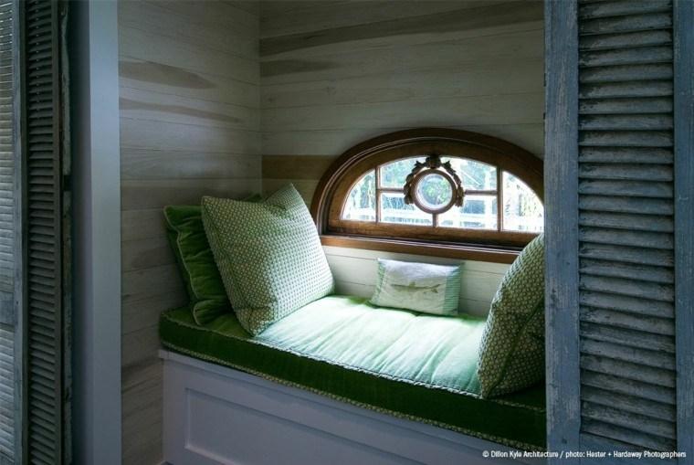 diseño banco ventanas madera