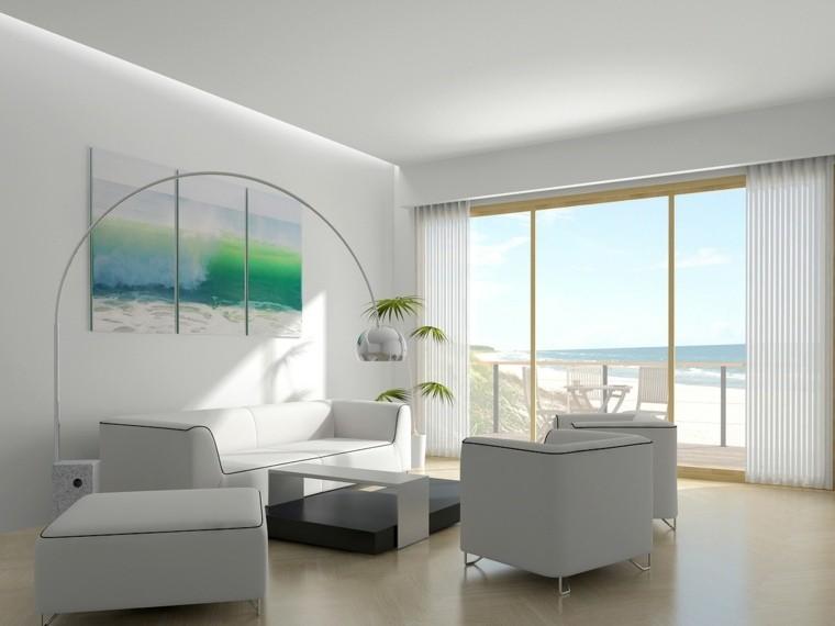 diseño blanco creativo mobiliario plantas
