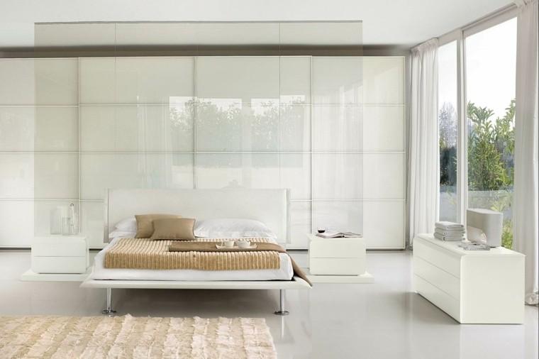 diseño blanco dormitorio cuarto patio