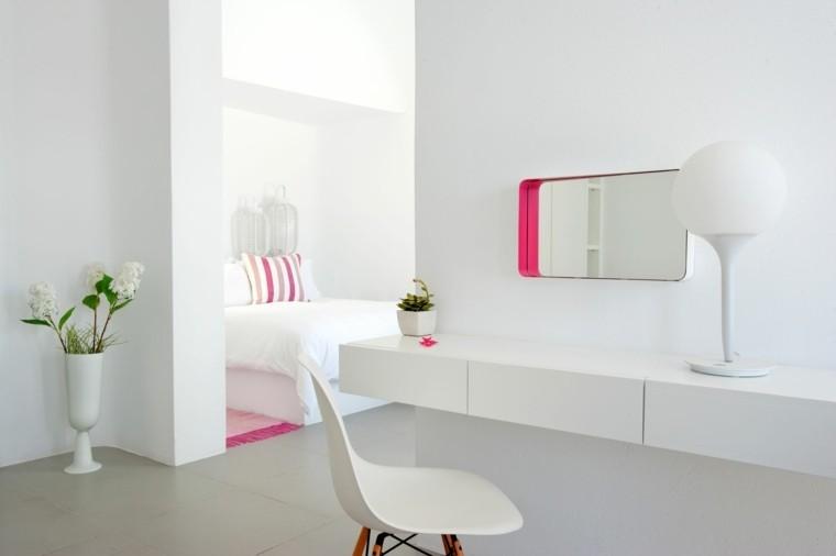 diseño blanco flores paredes silla