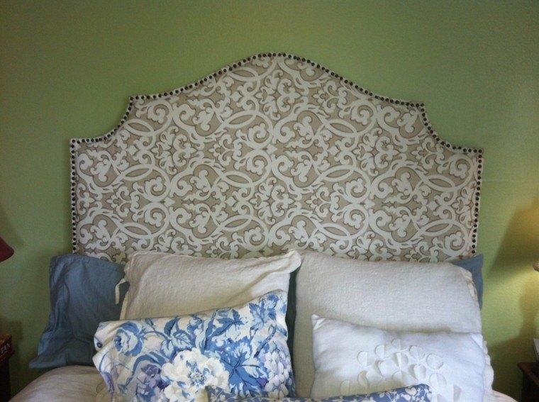 diseño cabecero tapizado tela