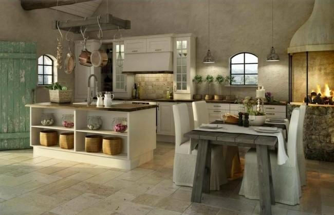 diseño cocina estilo rustico moderno