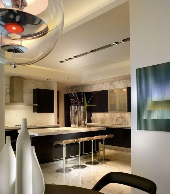 diseño cocina color beige moderna