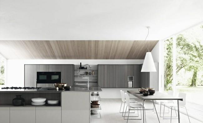 diseño cocina grande estilo moderno